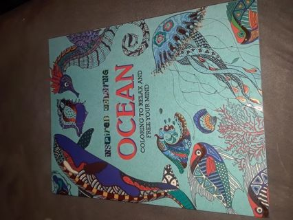 Large Ocean adult coloring book! New!