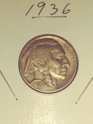 1936 Buffalo Nickel (Nice Full Date!) 67