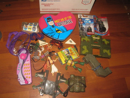 Medium Flat Rate Box Lot #2 - TOYS! - Batman, action figures, random stuff