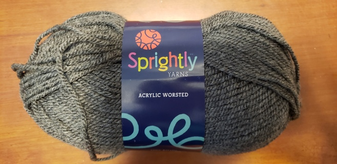 "NEW - Sprightly Yarn - ""Charcoal Heather"""