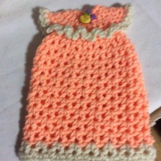 Hand Crochet Liquid Dish Soap Dress.