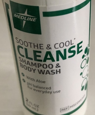 BN Medline Soothe & Cleanse Shampoo and Body Wash.2oz. Hospital Issued.