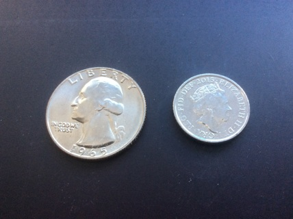 2015 five (5) pence coin from United Kingdom or Great Britain