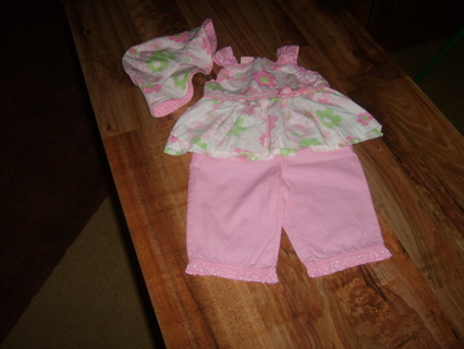 0 to 3 Months girl's outfit