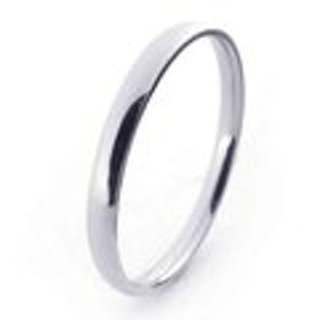 One (1) STAINLESS STEEL WEDDING BANDS, 2MM (1/16 in), Unisex, in a variety of sizes