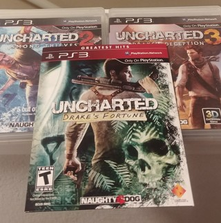 Uncharted 1, 2 and 3 PS3 Games (in mint like condition)