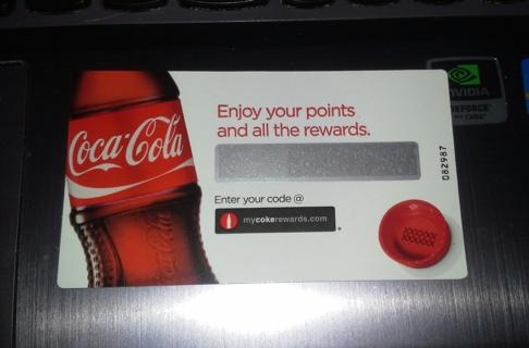 My Coke Rewards Code 20 points