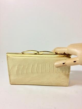 Incredible Rare Antique Scaled Albino Reptile Leather Clutch Purse Handbag
