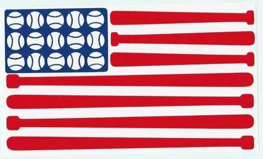 Free  Baseball American Flag Car Vinyl Decal - Accessories - Listia ... 702471fd6