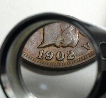 "*ERROR* 1902 Indian Head Penny *(Amazing DETAILS & DIE BREAK ERROR)*(""DOT"" Under Date)*(Must Read)*"