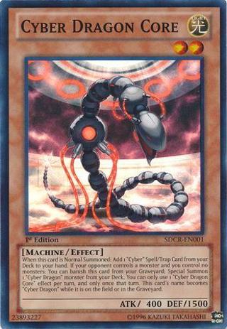 YuGiOh! Cyber Dragon Core - SDCR-EN001 - Holographic Super Rare Card - 1st Edition