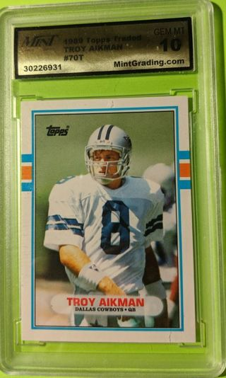 TROY AIKMAN ROOKIE CARD * GRADED GEM MINT 10