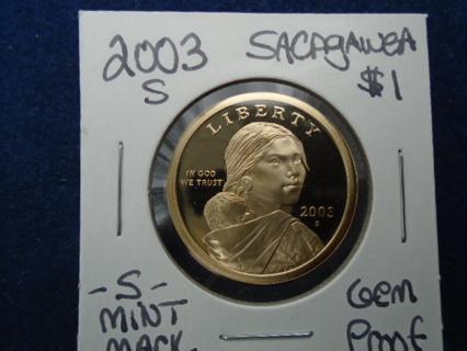 2003-S DOLLAR GEM PROOF SACAGAWEA GOLDEN DOLLAR!