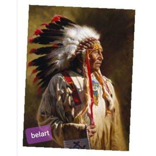 """Sitting Bull "" Native American Chief portrait"