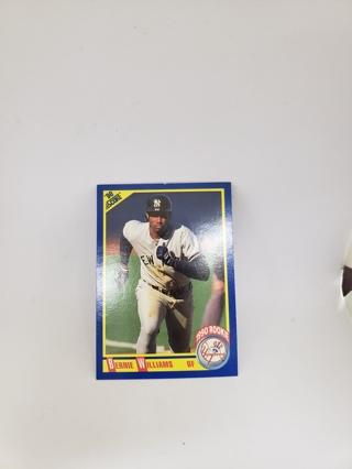 1990 Score Bernie Williams Rookie card RC