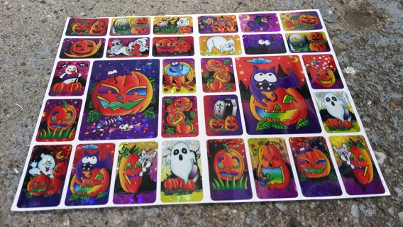 HALLOWEEN FOIL STICKERS 2 SHEETS LOT 2