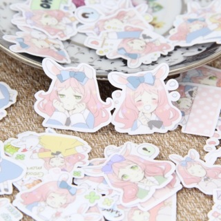 free bunny girl anime kawaii sticker flakes random set of 12