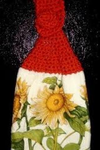 Free: DIGITAL DELIVERY - CROCHET PATTERN! Dish Towel Top Crochet ...