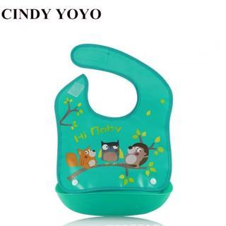 Detachable Baby Bibs EVA Plastic Waterproof Infant Apron Towels For Kids Feeding Cartoon Baby Bibs