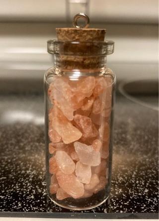 Glass corked jar with Himalayan Pink Salt