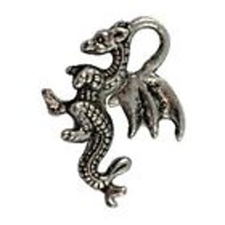 1 new silver tone dragon Charm . Use get it now and get a free surprise !