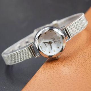 Watch Women Lady Fashion Thin Stainless Steel Quartz Analog Bracelet Wristwatch
