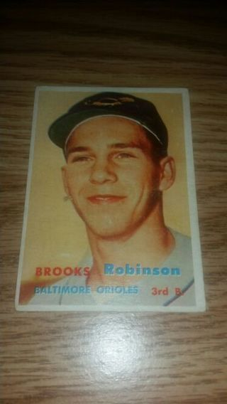 1957 Topps Baseball Brooks Robinson RC #328 Baltimore Orioles,Very good condition,free shipping!