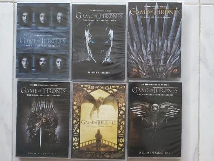 Game of Thrones Seasons 1-4-5-6-7-8 DVD Open Box