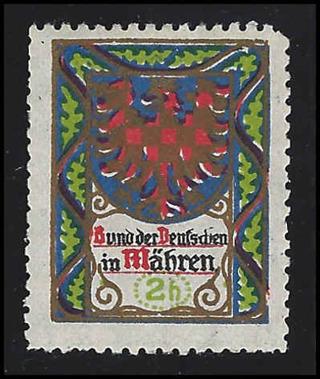 1900-1910 Moravia Cinderella stamp, MNH