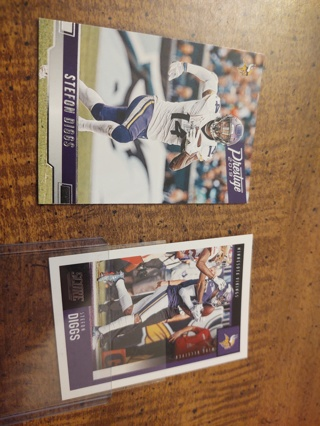 Two card lot  wide receiver Stefon Diggs Buffalo bills