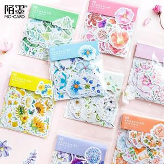 45 Pcs/Pack Mohamm Kawaii Japanese Decoracion Journal Cute Diary Flower Stickers Scrapbooking Flak