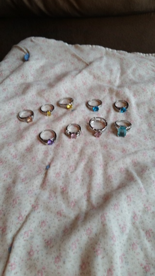 Lot of 9 Diamond Candle Rings
