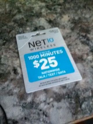 Net10 Wireless 30-Day Plan 1000 Minutes - $25 Dollar Value! (US ONLY)