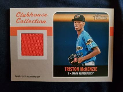 2019 Topps Heritage Minors Clubhouse Collection Relic Triston McKenzie