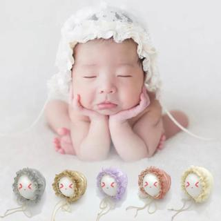 Spring Cap Newborn Baby Summer Sweet Hat Princess Lace Infant Girl Beanie Ruffles Lace-up Baby Pho