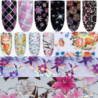 Nail Foils Transfer Stickers Decals Holographic Nail Art Starry Paper Manicure