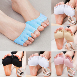 [GIN FOR FREE SHIPPING] 1Pair Open-Toed 5-Toe Forefoot Separator Yoga Sport Socks Pain Relief