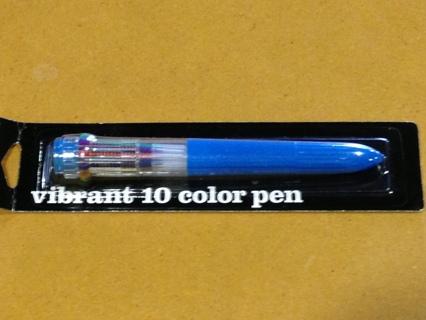 Vibrant 10 Color Pen NIP