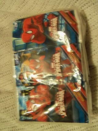 NEW 6- pack of pocket Tissues Spider Man