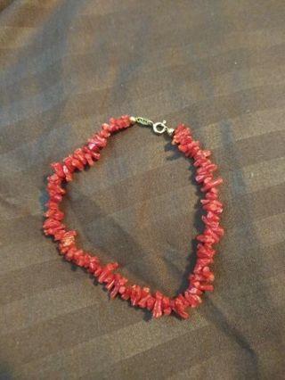 ❤14k gold coral branch bead bracelet!❤