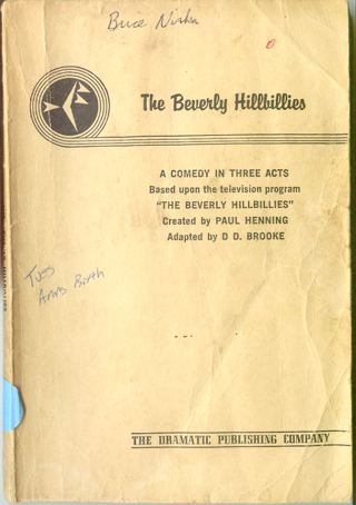 Vintage Beverly Hillbillies Script Comedy in 3 Acts Book 1968 Must See!