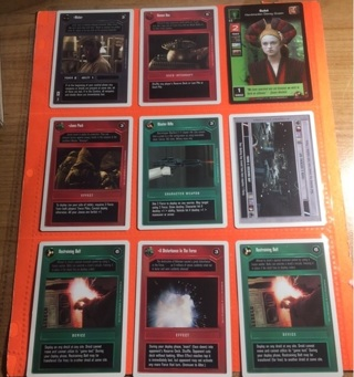 9 Star Wars 1995 Game Cards