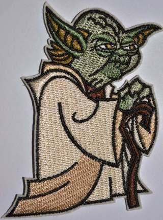 Yoda Clone Wars Cloak Cane Jedi Star Wars patch