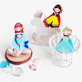 54Pcs Mermaid Cartoon Candy Box Lollipop Decor Card Kids Birthday Party Supplies