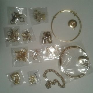 Assorted Gold Plated Jewelry Making Supplies