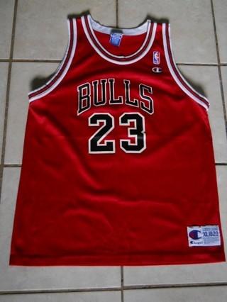online retailer 64ded f7fd0 Free: CHICAGO BULLS MICHAEL JORDAN CHAMPION JERSEY XL 18/20 ...