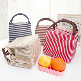 Womens Waterproof Canvas Picnic Lunch Insulated Bag Cosmetic Shopping Handbag
