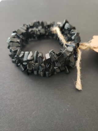 Blackstone - Memory Wire Wrap Bracelet