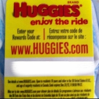 1 huggies reward code