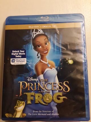 NEW Disney's Princess and the Frog BLU-RAY + DIGITAL